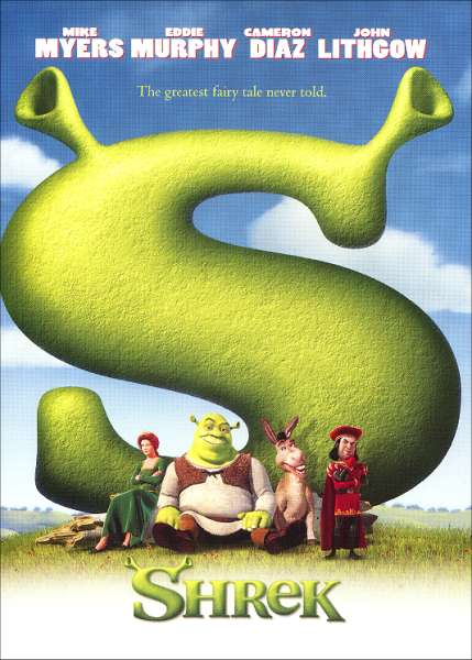 shrek film posters.